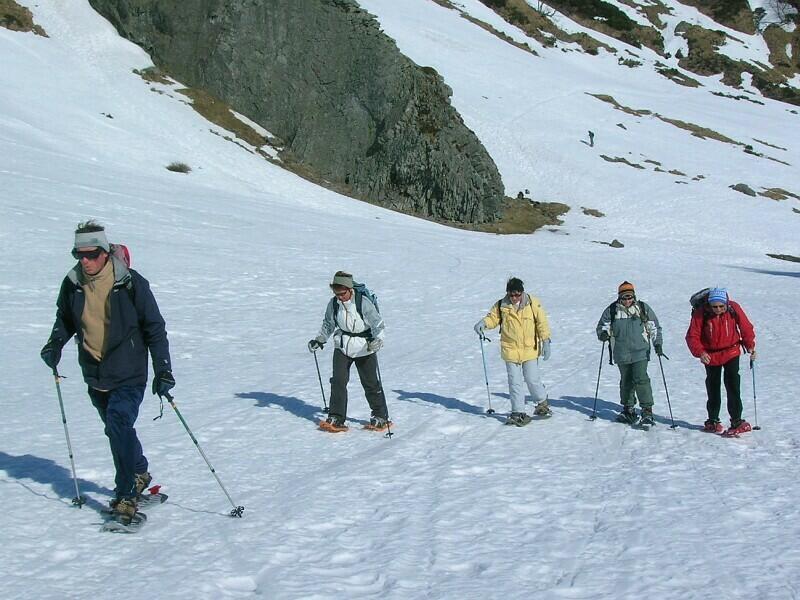 Groupe Raquettes au Mont-Dore en mars 2009